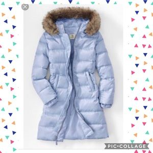 Lands End girls 7-8 puffer coat EUC